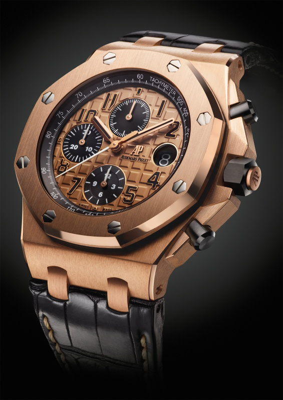 Sihh 2014 audemars piguet royal oak offshore chronograph 42mm luxois for Royal oak offshore rose gold 42mm