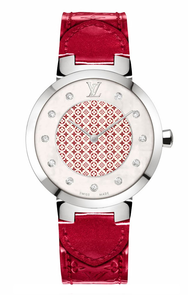 0aa9759485a2 Louis Vuitton Tambour Monogram watch for Valentines 2014 - Luxois