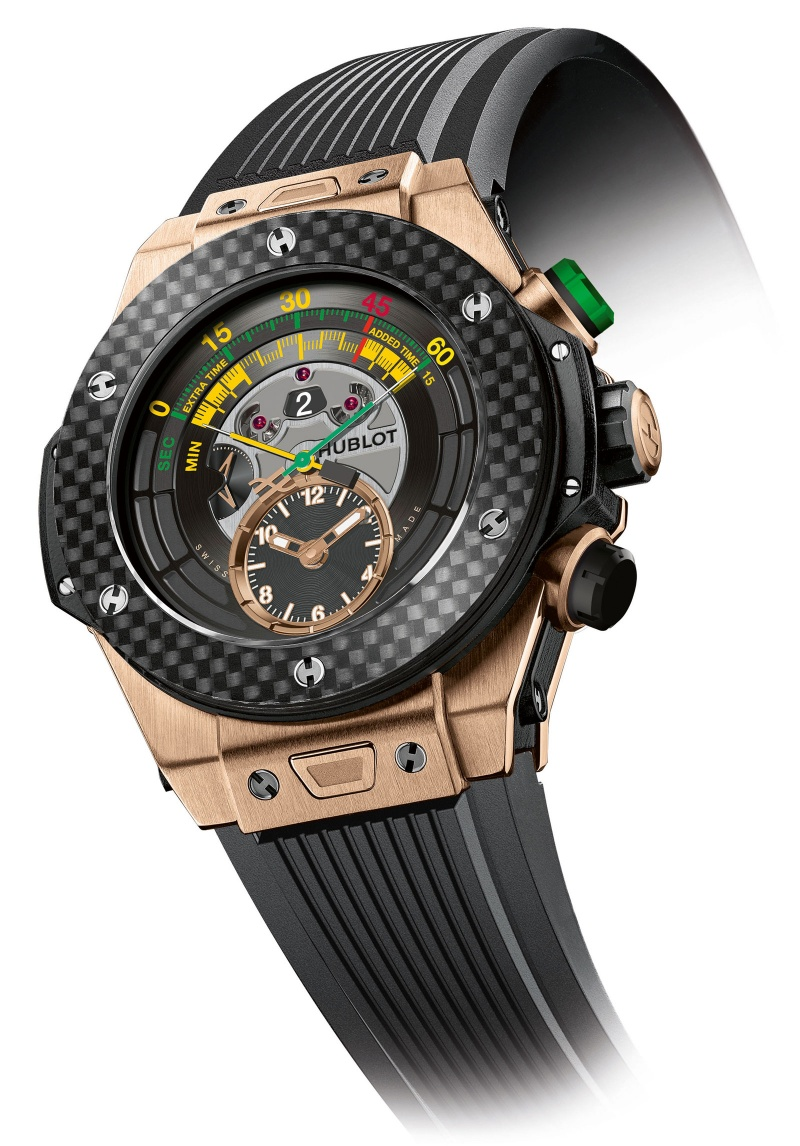 ecb618d04 Hublot Big Bang Unico Bi-Retrograde Chrono for FIFA World Cup King Gold