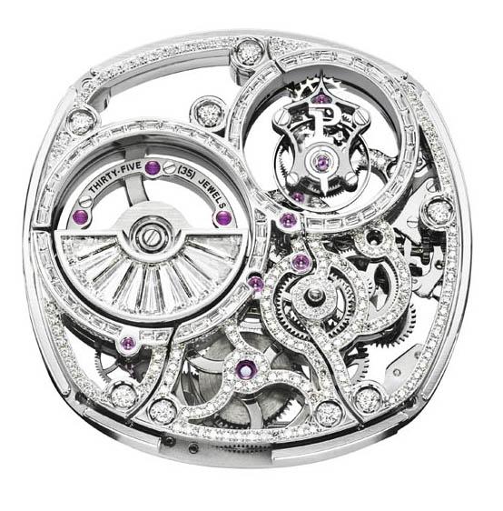 Piaget Emperador Coussin Tourbillon Diamond-Set Automatic Skeleton Exceptional Piece calibre 1270D front