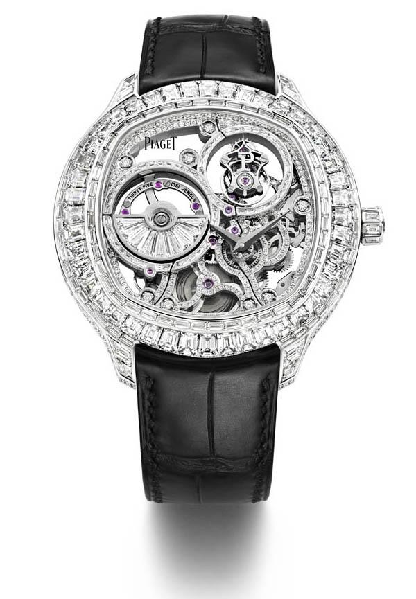 piaget emperador coussin tourbillon diamond set automatic skeleton
