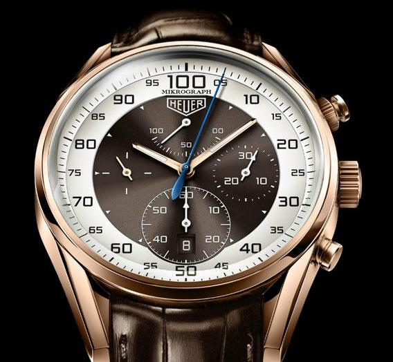 7aad4e30f817 TAG Heuer Carrera Mikrograph Watch  video  - Luxois