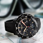 Alpina Seastrong Diver 300 Black Chronograph Big Date