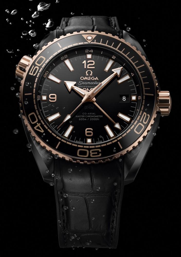 Omega Seamaster Planet Ocean Deep Black Sedna Gold