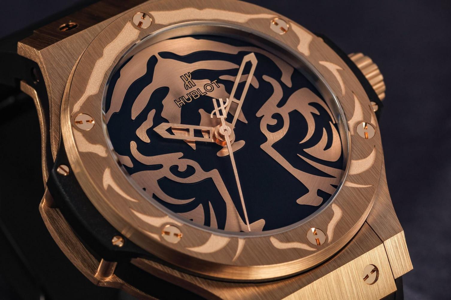 Hublot Big Bang Black Jaguar & White Tiger Foundation gold