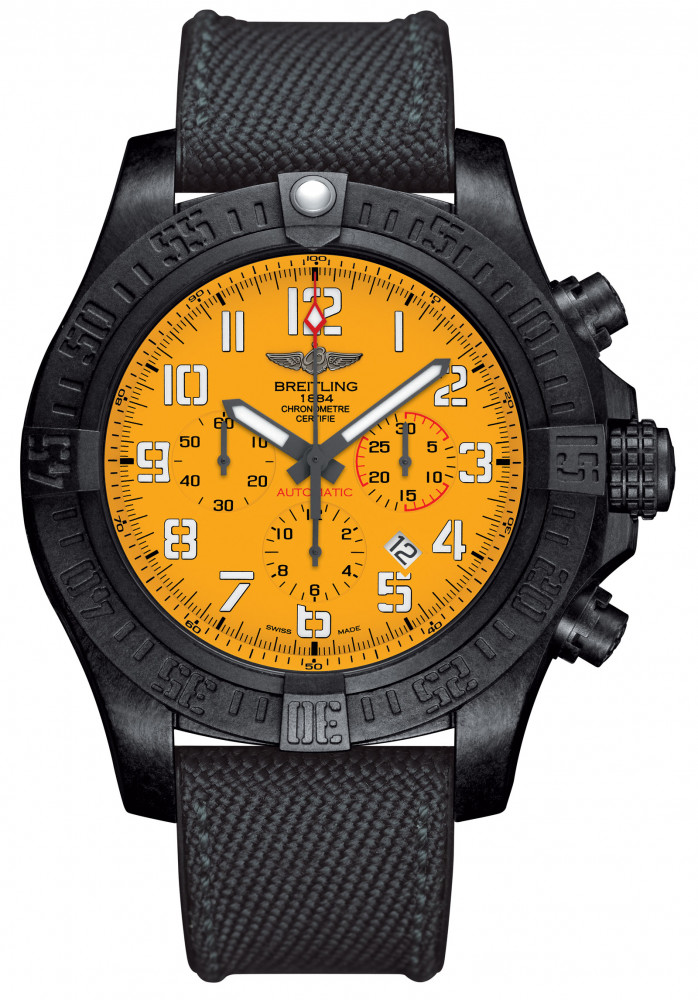 Breitling Avenger Hurricane 12H with a yellow dial