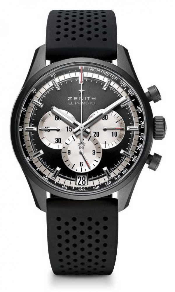 Zenith El Primero 36'000 VPH Perfect Duality Black toned dial with silver counters, reference: 24.2041.400/21.R576