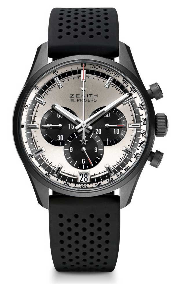 Zenith El Primero 36'000 VPH Perfect Duality Silver toned dial with black counters, reference: 24.2041.400/01.R576