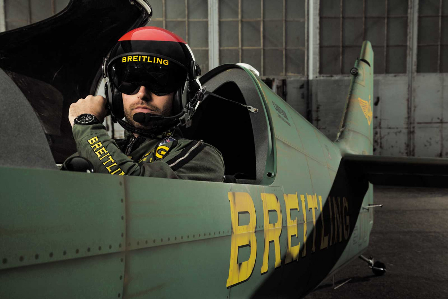 MXS-R Skyracer plane of the Breitling Racing Team flown by aerobatics rising star Mika Brageot