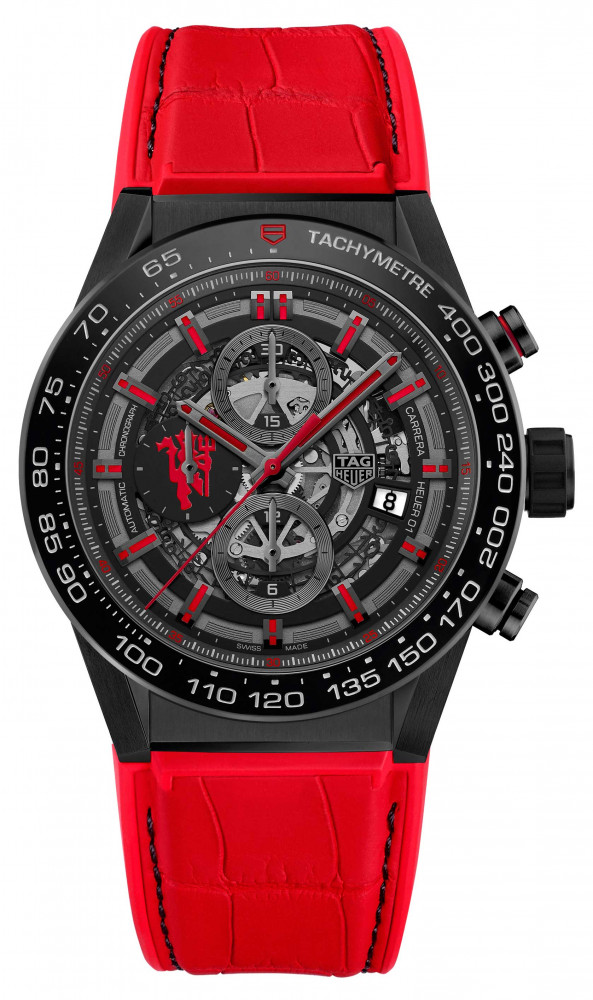 TAG Heuer Carrera Heuer-01 Calibre Manufacture Chronograph Manchester United Special Edition