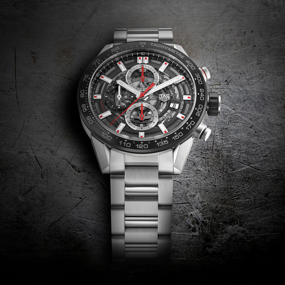 Tag Heuer Carrera 01 43 Mm Luxois Space Leather