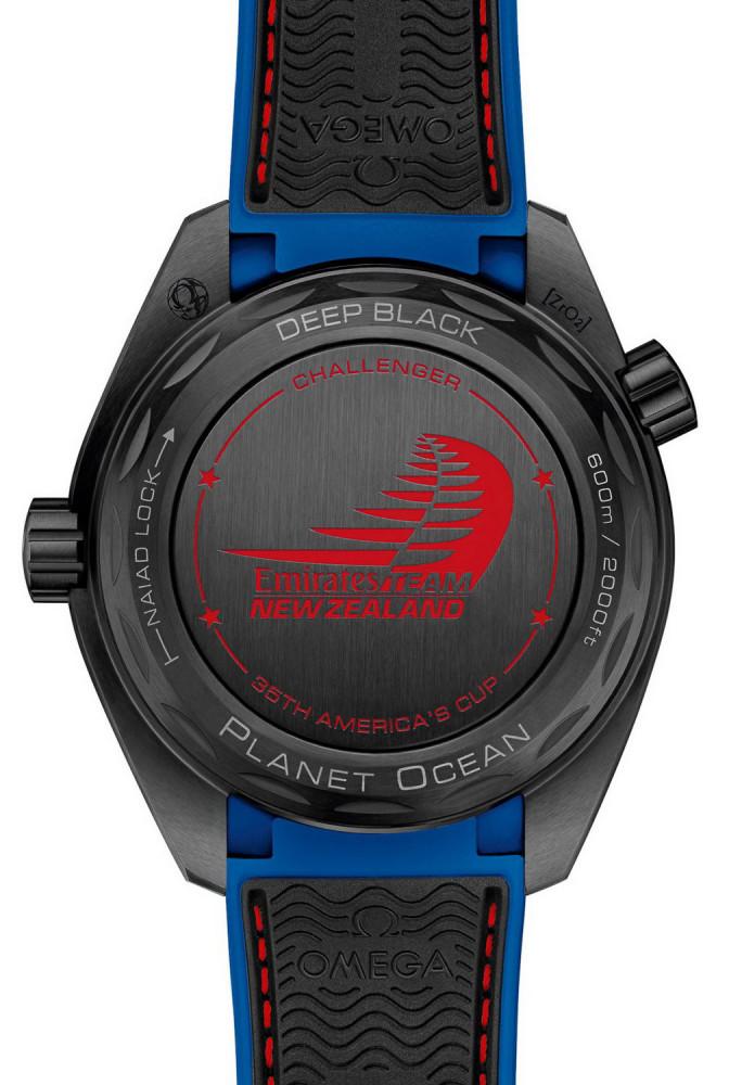 """OMEGA Seamaster Planet Ocean ETNZ """"Deep Black"""" Master Chronometer"""