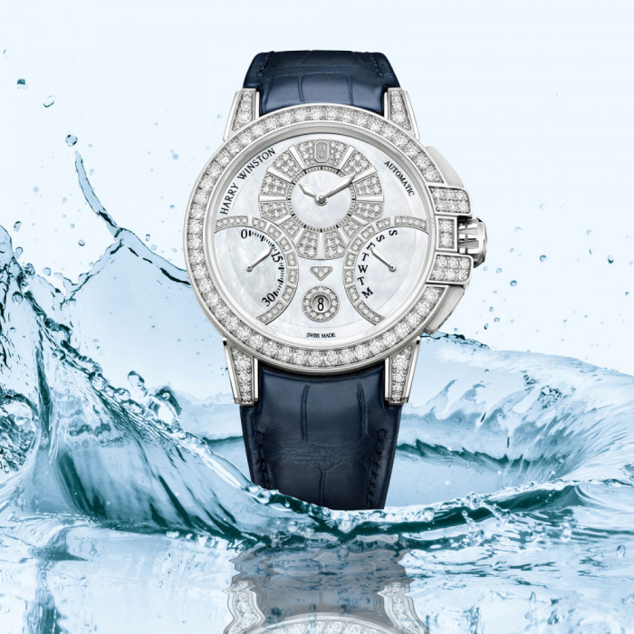 brand new 8c88f fa1e1 The house of Harry Winston adds a new model to its Ocean Collection. The  new Ocean Biretrograde Automatic, evocative of a majestic ship navigating  the ...