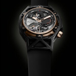 Hublot Techframe Ferrari 70 Years Tourbillon Chronograph in PEEK Carbon & King Gold