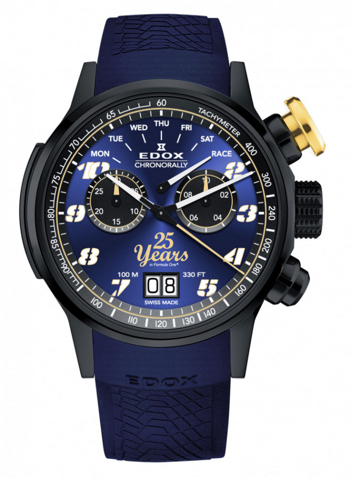 16b650b5b Edox, the official watch partner of the Sauber F1 Team has just released a  special new watch in celebration of the team's 25th anniversary.