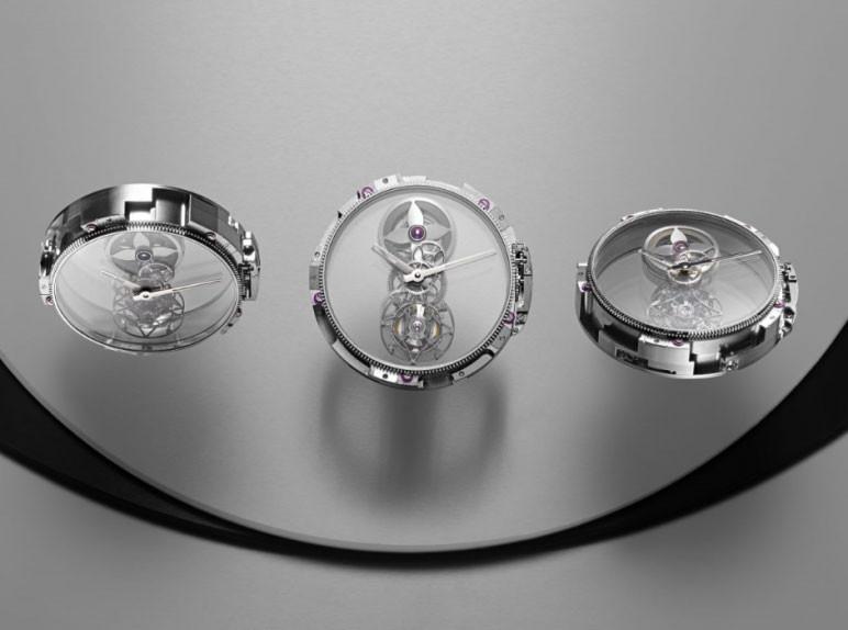 381b9fb6cd9a Louis Vuitton Tambour Moon Mystérieuse Flying Tourbillon - Luxois