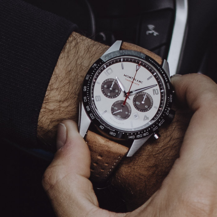 b77a6cb96db85 Montblanc TimeWalker Manufacture Chronograph Cappuccino Edition - Luxois