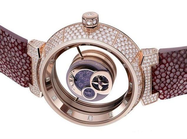 97a228f3adbd Louis Vuitton Tambour Mysterieuse Watch - Luxois
