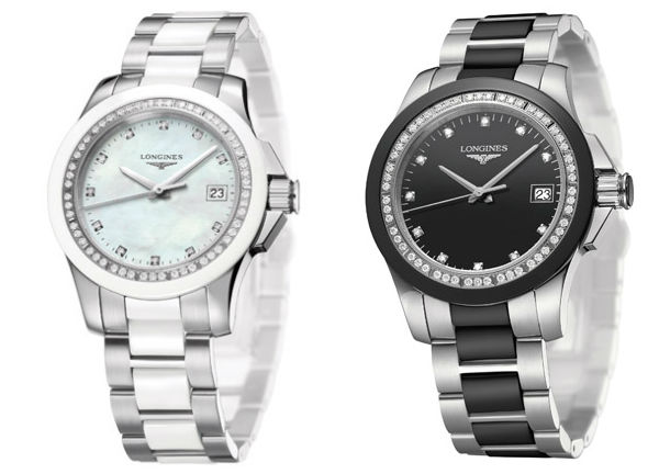 longines ladies diamond conquest watch