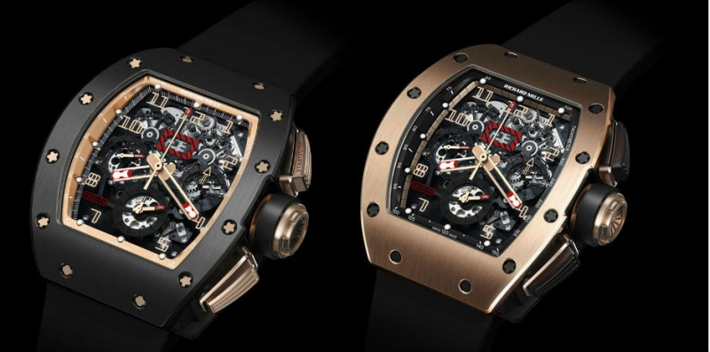 13d6b681f14 Richard Mille RM 011 Felipe Massa Flyback Chronograph BLACK KITE and RED  KITE